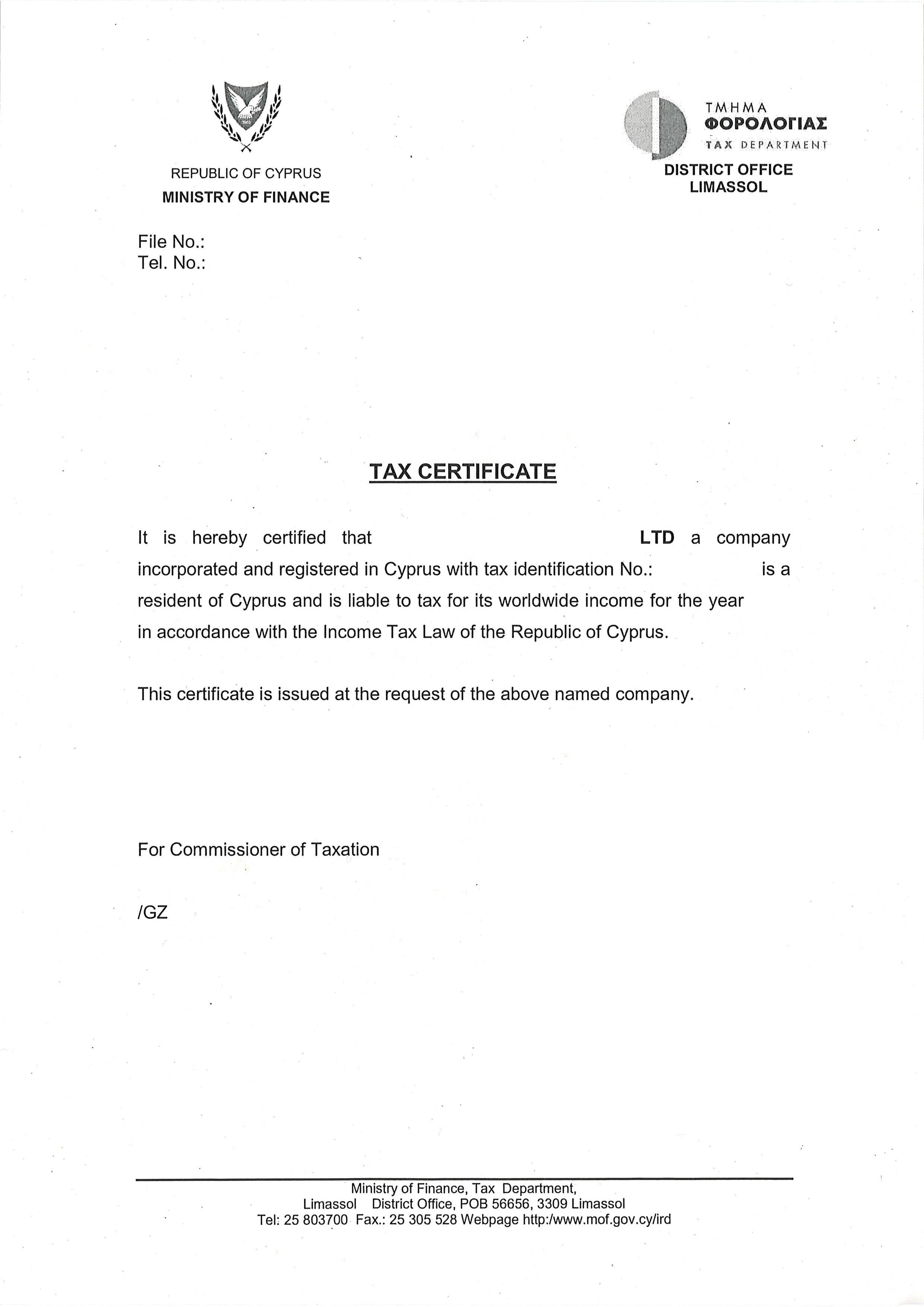 Регистрация ооо кипр госпошлина за регистрацию ип севастополь